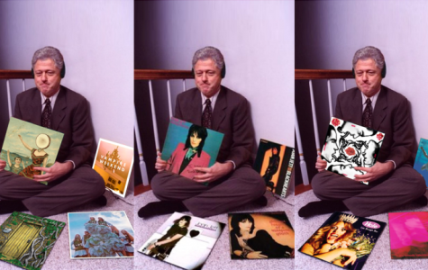 As a recently popular trend on Instagram, anyone and everyone who wanted to share their favorite albums edited them in to this picture of Bill Clinton lovingly clutching on to them.