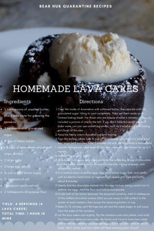 This is the full recipe for the lava cakes. I hope you guys enjoy!