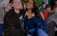 Dinsuha Desilva, 12, pictured with Mathew Minikel, 12, says