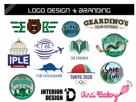Check out sample logos from Logo Design and Branding students! (Courtesy of Mr. DiGioacchino)
