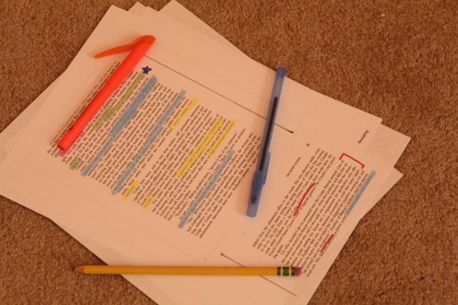 There's so much annotating involved with College Writing texts.