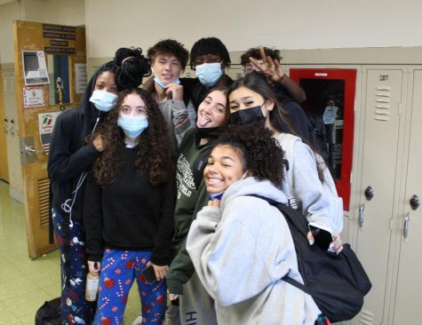 This group of juniors was very enthusiastic about participating in Pajama Day. Many EBHS students- and teachers- rocked funky, patterned pants and hoodies on Monday to show off their spirit.